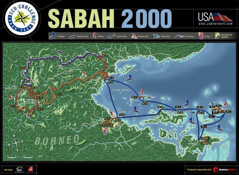 Click here for full size map of Sabah, Borneo