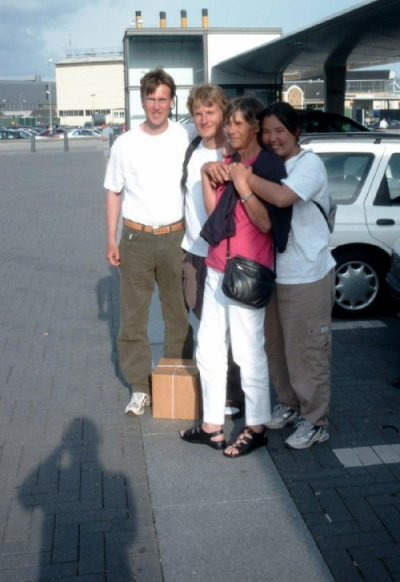 At airport - when René and Arumi leave Denmark