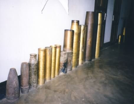 Various types of bombs