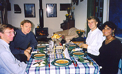 Dinner with the Lenehans, Henrik & wife