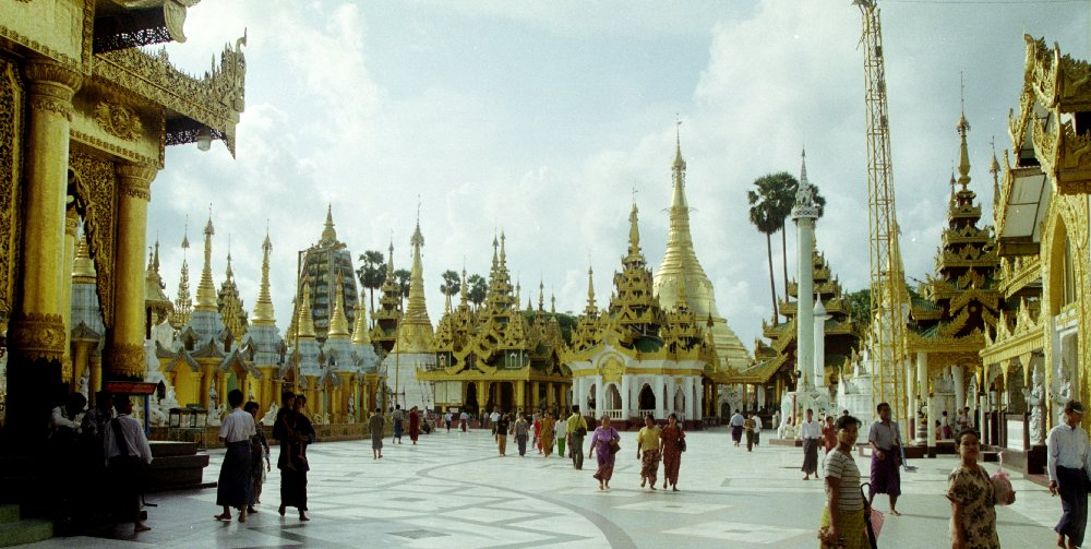 Temples at Schwedagon Photo 1