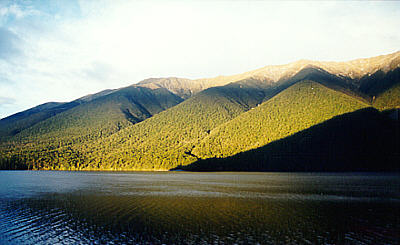 Mountains at Lake Rotoiti